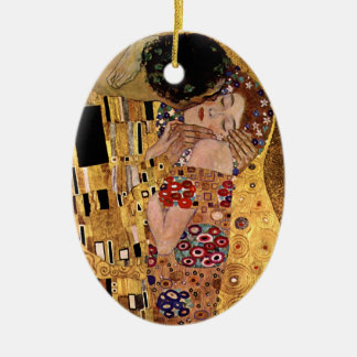 Gustav Klimt: The Kiss (Detail) Christmas Ornament