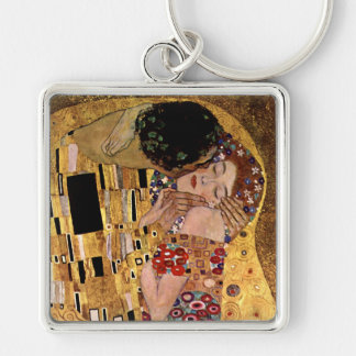 Gustav Klimt: The Kiss (Detail) Key Ring