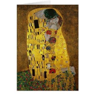 Gustav Klimt The Kiss Greeting Card