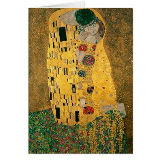 Gustav Klimt The Kiss (Lovers) GalleryHD Note Card