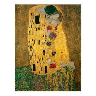 Gustav Klimt The Kiss (Lovers) GalleryHD Vintage Postcard