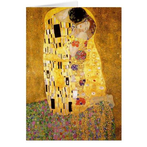 Gustav Klimt The Kiss Note Card
