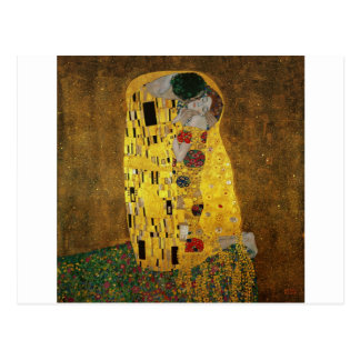 Gustav Klimt The Kiss Postcard