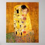 """Gustav Klimt """"The Kiss"""" Poster"""