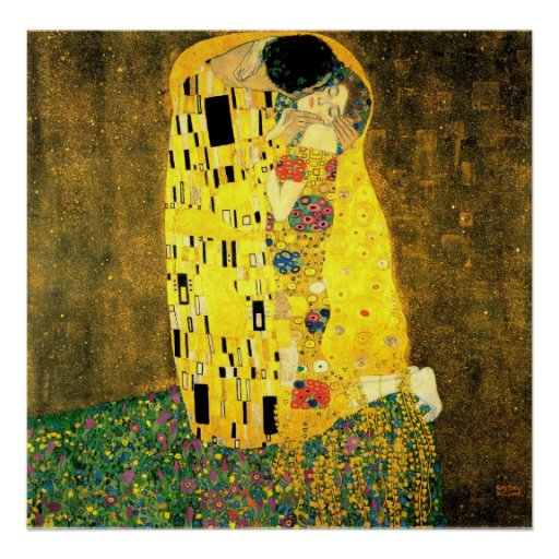 Gustav Klimt -The Kiss  Poster