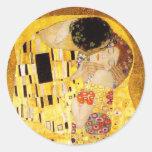 Gustav Klimt The Kiss Round Sticker
