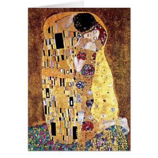 Gustav Klimt - The Kiss - Vintage Art Nouveau Card