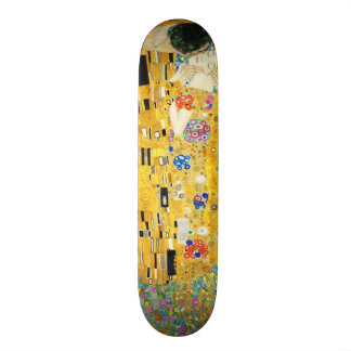 Gustav Klimt The Kiss Vintage Art Nouveau Painting 21.6 Cm Skateboard Deck