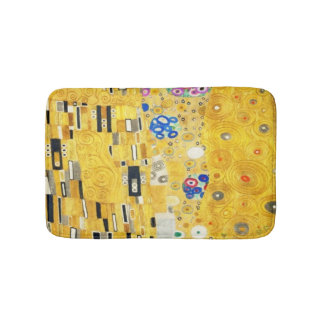 Gustav Klimt The Kiss Vintage Art Nouveau Painting Bath Mats
