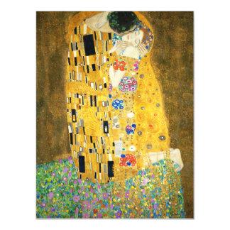 Gustav Klimt The Kiss Vintage Art Nouveau Painting Magnetic Invitations