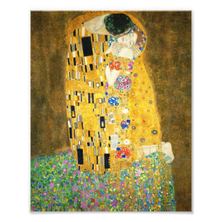 Gustav Klimt The Kiss Vintage Art Nouveau Painting Photo Print