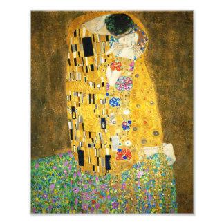 Gustav Klimt The Kiss Vintage Art Nouveau Painting Photograph