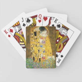 Gustav Klimt The Kiss Vintage Art Nouveau Painting Poker Deck