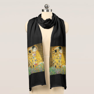 Gustav Klimt The Kiss Vintage Art Nouveau Painting Scarf
