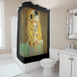 Gustav Klimt The Kiss Vintage Art Nouveau Painting Shower Curtain