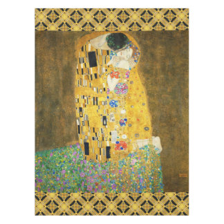 Gustav Klimt The Kiss Vintage Art Nouveau Painting Tablecloth
