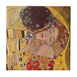 Gustav Klimt The Kiss Vintage Ceramic Tile