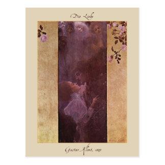 Gustav Klimt The Love 1895 Postcards
