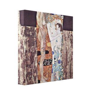 Gustav Klimt - The three ages of woman Canvas Print