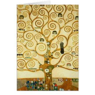 Gustav Klimt The Tree Of Life Art Nouveau Cards