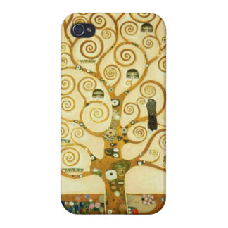 Gustav Klimt The Tree Of Life Art Nouveau Cases For iPhone 4