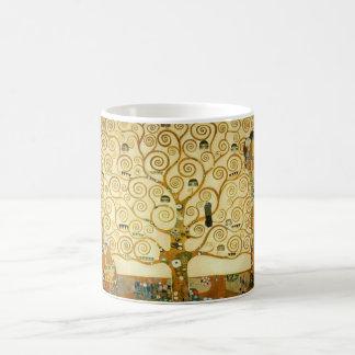 Gustav Klimt The Tree Of Life Vintage Art Nouveau Basic White Mug