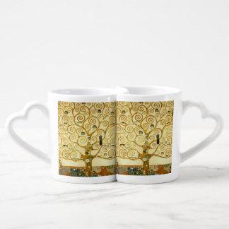 Gustav Klimt The Tree Of Life Vintage Art Nouveau Lovers Mug