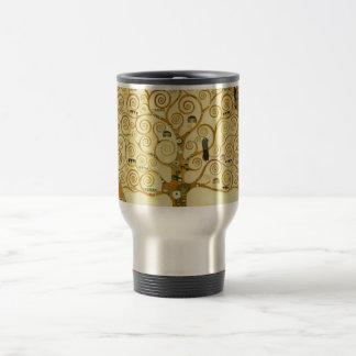 Gustav Klimt The Tree Of Life Vintage Art Nouveau Stainless Steel Travel Mug