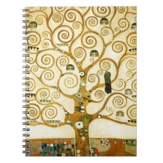 Gustav Klimt The Tree Of Life Vintage Art Nouveau Notebook