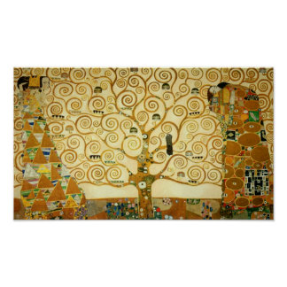 Gustav Klimt The Tree Of Life Vintage Art Nouveau Poster