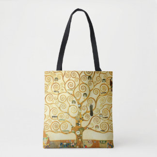 Gustav Klimt The Tree Of Life Vintage Art Nouveau Tote Bag