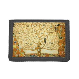 Gustav Klimt The Tree Of Life Vintage Art Nouveau Trifold Wallet