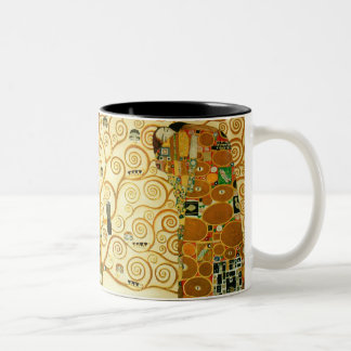 Gustav Klimt The Tree Of Life Vintage Art Nouveau Two-Tone Mug