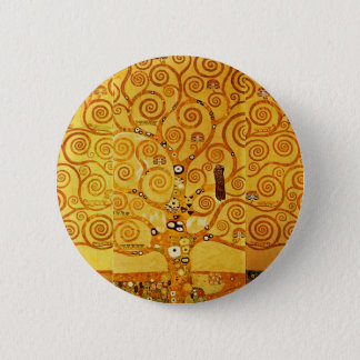 Gustav Klimt Tree of Life Art Nouveau 6 Cm Round Badge