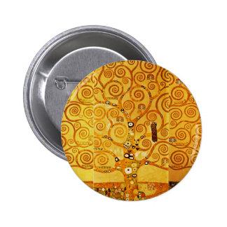 Gustav Klimt Tree of Life Art Nouveau Buttons