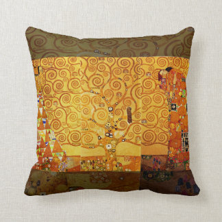 Gustav Klimt Tree of Life Art Nouveau Cushion
