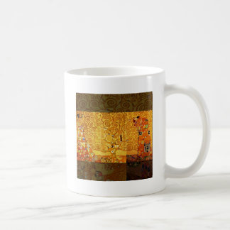 Gustav Klimt Tree of Life Art Nouveau Basic White Mug