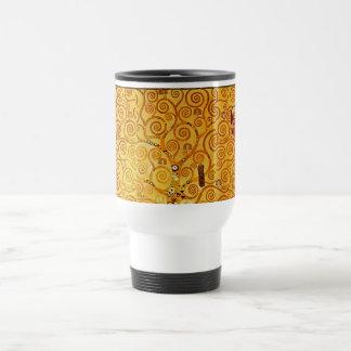 Gustav Klimt Tree of Life Art Nouveau Stainless Steel Travel Mug