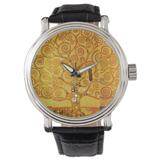 Gustav Klimt Tree of Life Art Nouveau Watch