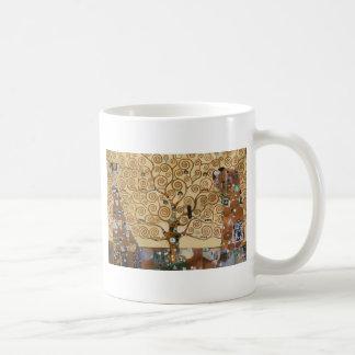 Gustav Klimt Tree Of Life Basic White Mug