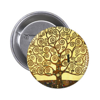 Gustav Klimt Tree of Life Button