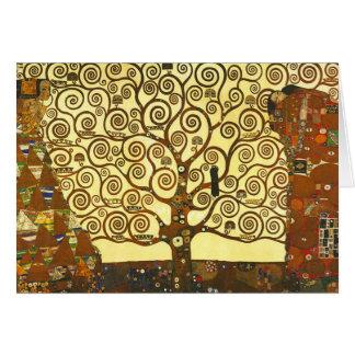 Gustav Klimt Tree of Life Greeting Card