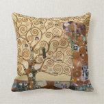 Gustav Klimt Tree Of Life Pillows