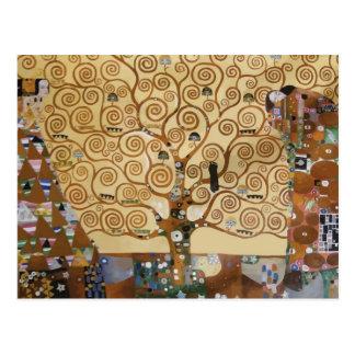 Gustav Klimt Tree Of Life Post Card