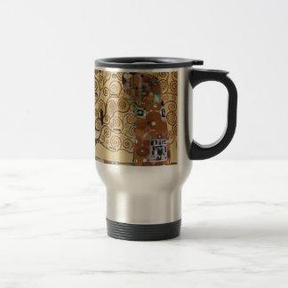 Gustav Klimt Tree Of Life Stainless Steel Travel Mug