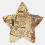 Gustav Klimt Tree Of Life Star Sticker
