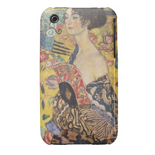 Gustav Klimt - Woman with fan iPhone 3 Cover