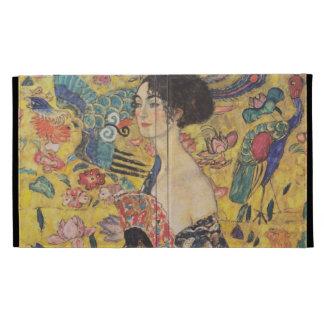 Gustav Klimt - Woman with fan iPad Case