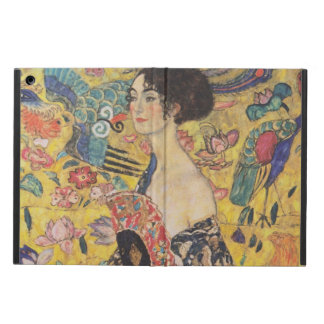 Gustav Klimt - Woman with fan Cover For iPad Air