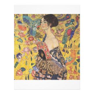 Gustav Klimt - Woman with fan Custom Flyer